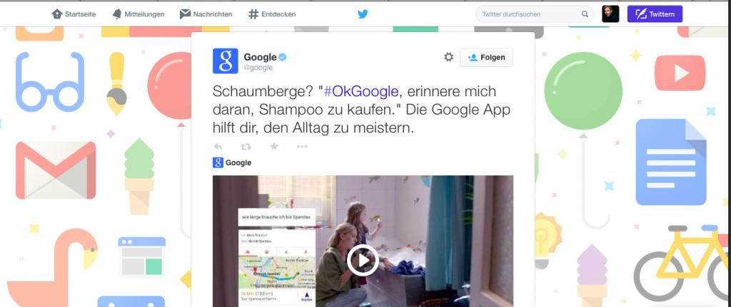 Google Twitter bunt